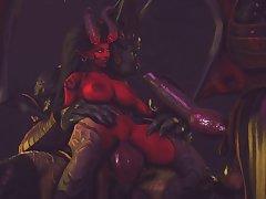 Kerrigan X Anubis (jujala)[dog Wolf]3D Bestiality