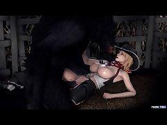 Tina And The Big Bad Wolf (nodetek)[dog Wolf]3D Bestiality