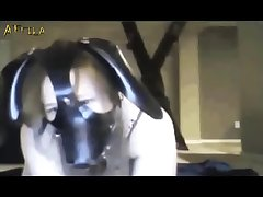 Webcam Masked Girl And Dog (part 3)