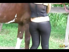 Cute Blonde Fucks Dildo And Sucks Horse (part 2)